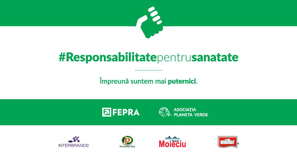 """FEPRA International, în parteneriat cu Asociația Planeta Verde, anunță lansarea proiectului """"Responsabilitate Pentru Sănătate"""""""