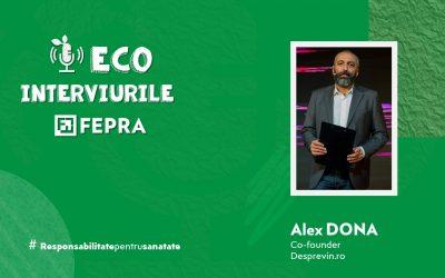 Eco-Interviurile FEPRA Alex Dona – Co-founder, Desprevin.ro